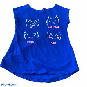Total Girl Sequin Cat Graphic Tank Top *Price Firm